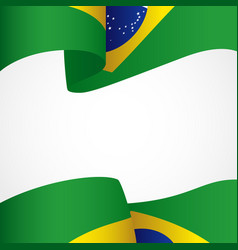 decoration of brazil insignia vector image