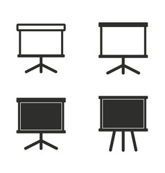 diagram board icon set vector image