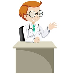 Doctor in uniform and stethoscope vector