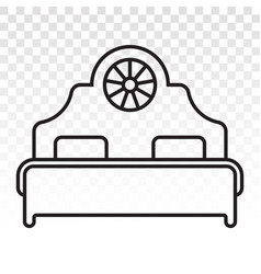 Double bed line art icon vector