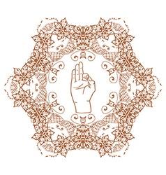 Element yoga mudra hands vector