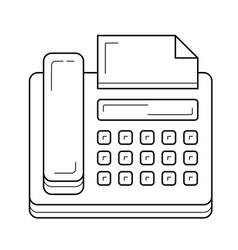 Fax machine line icon vector