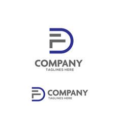 fd letter logo vector image