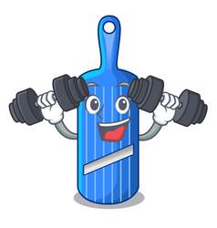 Fitness cut food on mandolin slicer cartoon vector