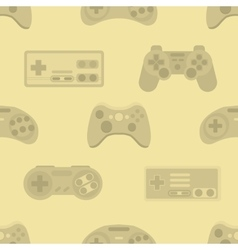 Gamepad colorful seamless pattern vector image