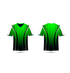 Green white and black layout e-sport t-shirt vector