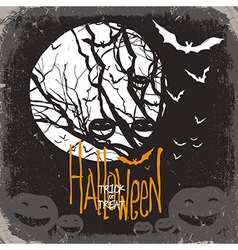 Halloween scary card vector