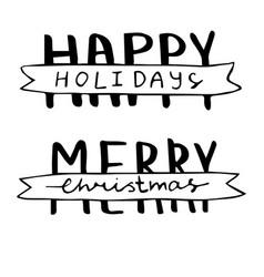 Hand drawn merry christmas vector