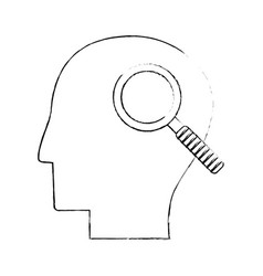 head human search creativity sketch vector image vector image