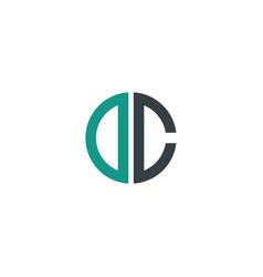 initial letter dc creative design logo vector image
