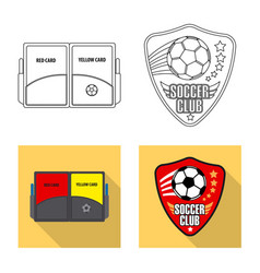 Isolated object of soccer and gear symbol set of vector