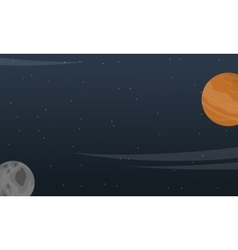 Landscape of planet outer space vector image