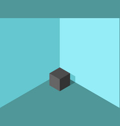 lonely cube in corner vector image
