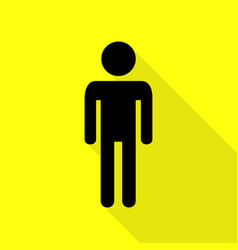 man sign black icon with flat style vector image