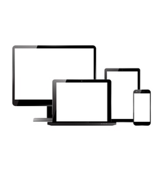 Monitor smartphone laptop tablet set vector image