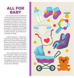 Motherhood happy mother and newborn child poster vector