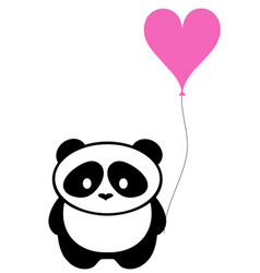 Panda bear with balloon vector
