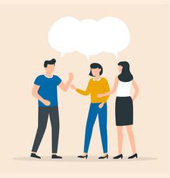 people talk teamwork share opinion team meeting vector image