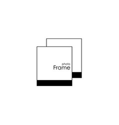 photo frame icon white background eps 10 vector image