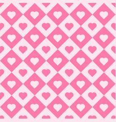 pink heart tiles seamless pattern vector image