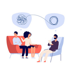 psychotherapy concept psychologist doctor helps vector image