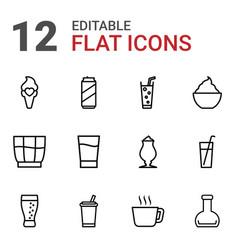 refreshment icons vector image