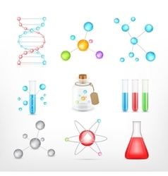 Science icons on white vector