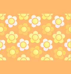 Seamless background with floral ornament vector