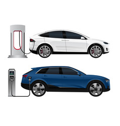 Set of electric suv vector