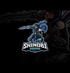 Shinobi mascot sport logo design vector