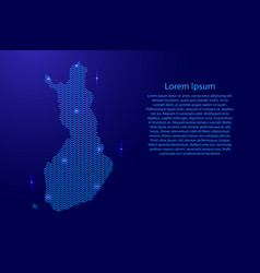 silhouette of finland country from wavy blue vector image