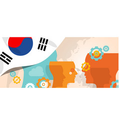 south korea concept of thinking growing innovation vector image