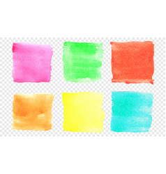 square watercolor banner set color smear of vector image