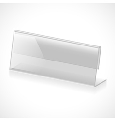 Table name holder vector image
