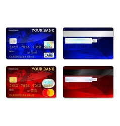 Template credit card set vector