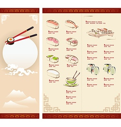 Template Design of Sushi Menu vector