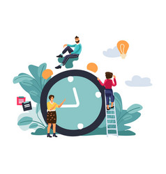Time managemant concept scene with effective vector