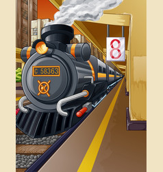 train in station vector image
