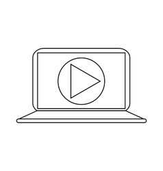 Video movie media player on the laptop icon vector image