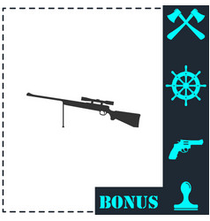 weapon icon flat vector image