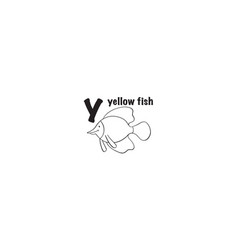 yellow fish icon vector image