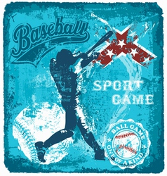 baseball batter sport vector image vector image