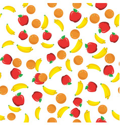 flat fruits seamless pattern vector image vector image