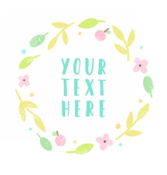 Floral laurel with place for text vector image