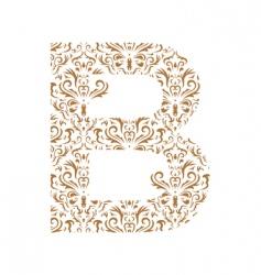 floral letter b ornament font vector image vector image
