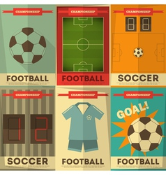 Football Posters vector image