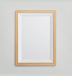 realistic photo frame 3d empty wood blank vector image