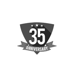 35 years Anniversary badge sign and emblem Flat vector image vector image