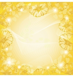 Background with flowers and curves vector image vector image