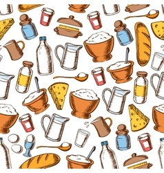 Baking and cooking ingredients seamless pattern vector image